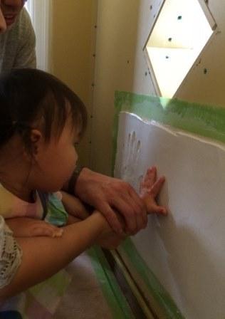 三重県多気町にて漆喰手形をつけました☆