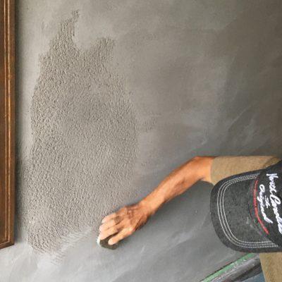 漆喰掻き落としの壁