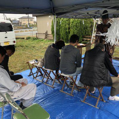 三重県 伊勢市にて木造新築住宅の地鎮祭