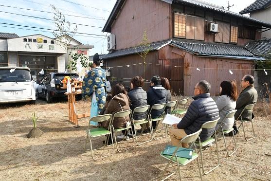 三重県鈴鹿市にて地鎮祭