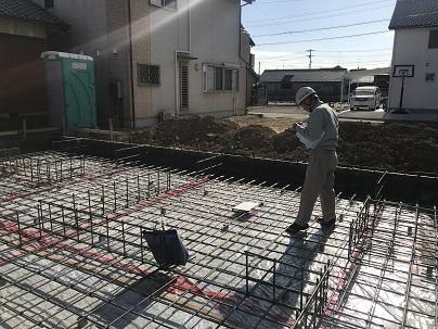 三重県津市にて配筋検査