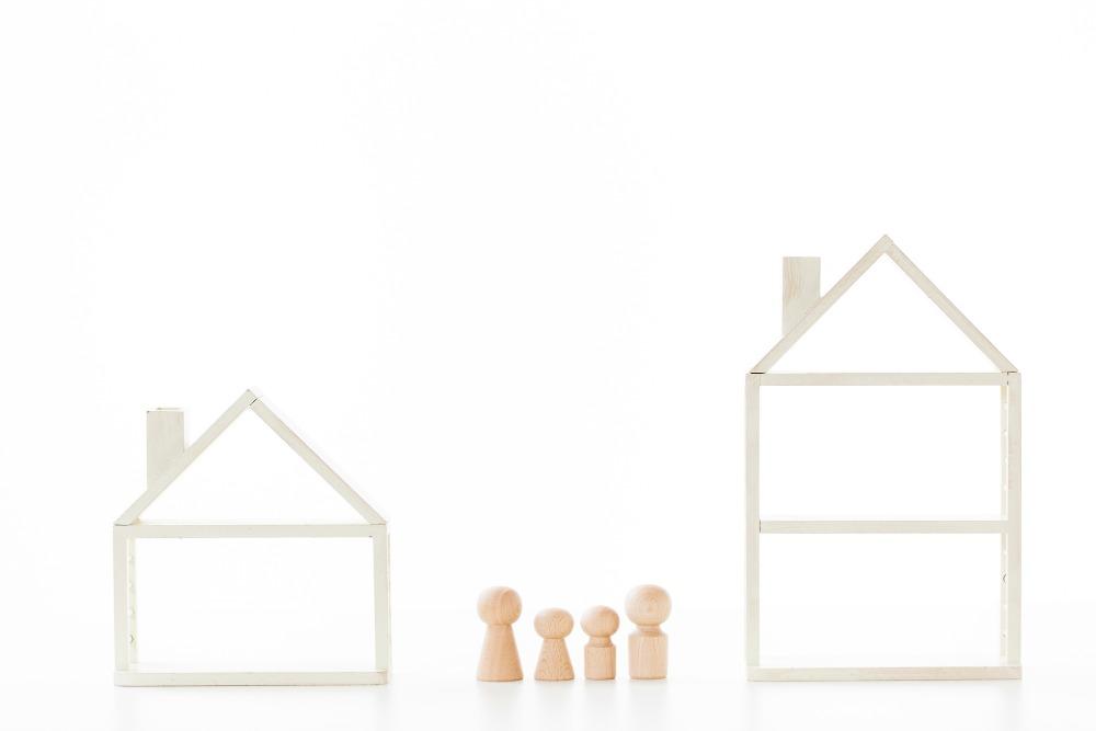 平屋と二階建てとの比較