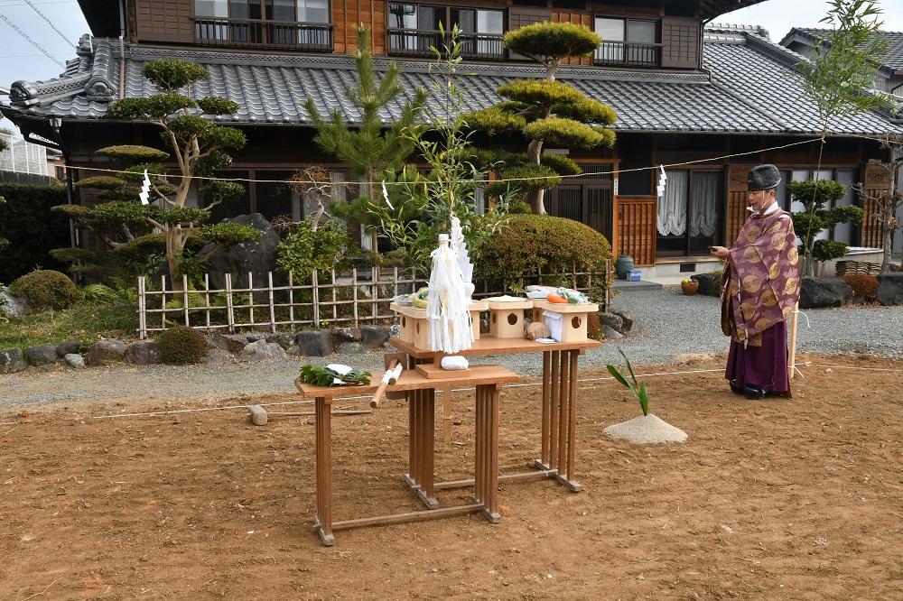三重県松阪市にて地鎮祭!