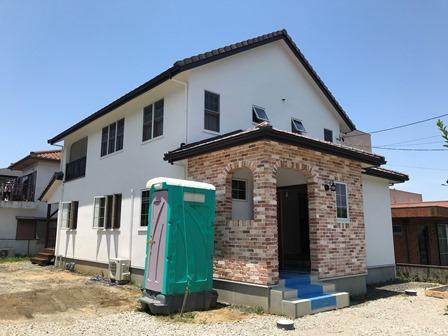 三重県伊勢市にて建築中のお家