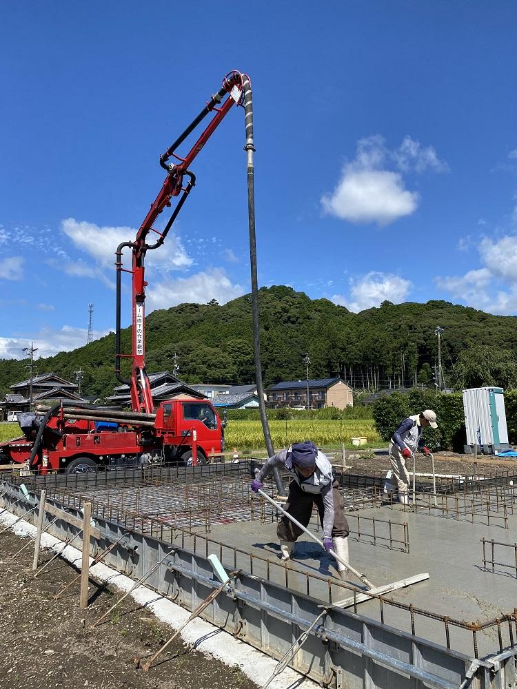 三重県大台町にて基礎コンクリート打設!